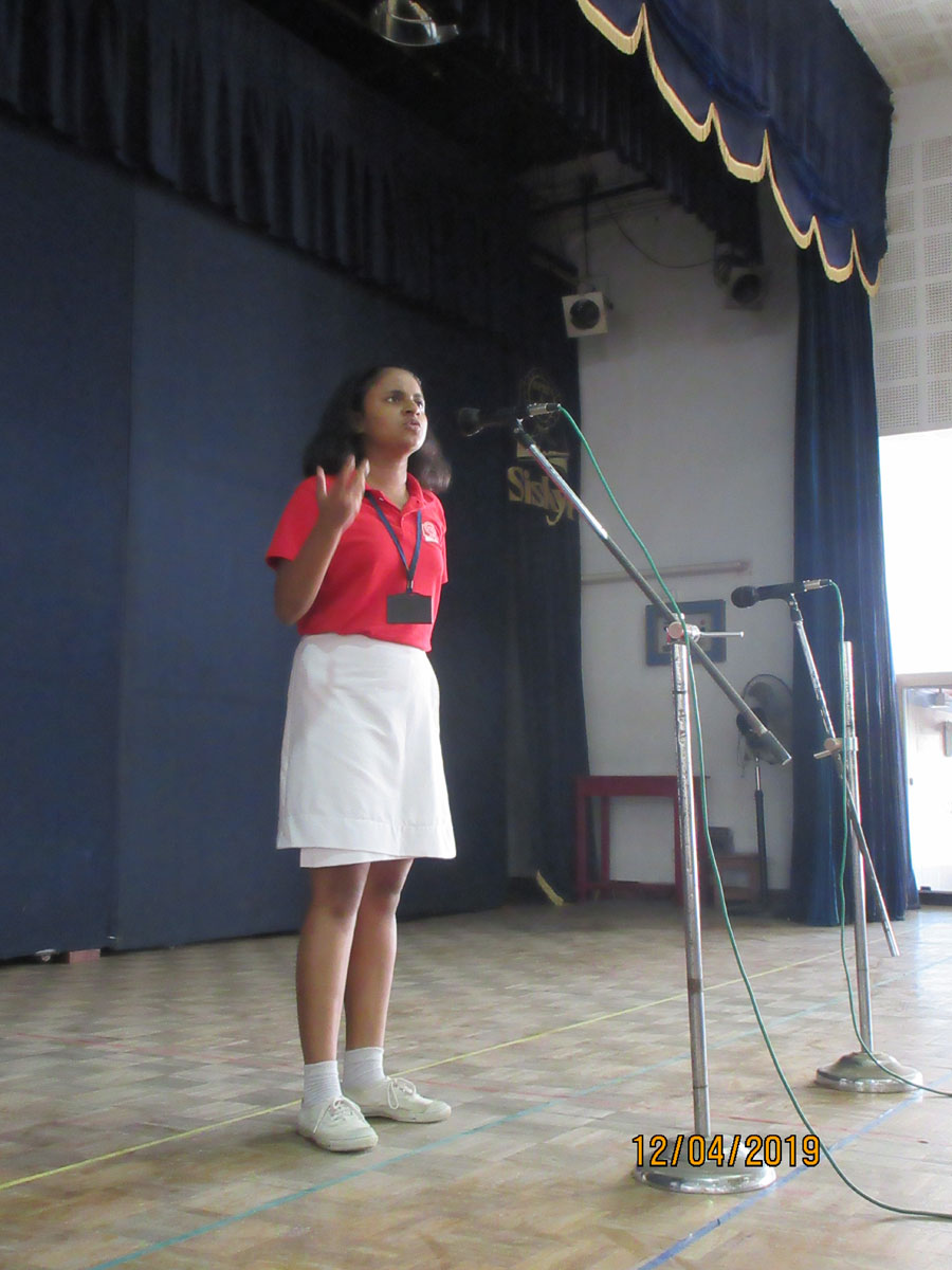 English Elocution Competition | Event Categories | Sishya
